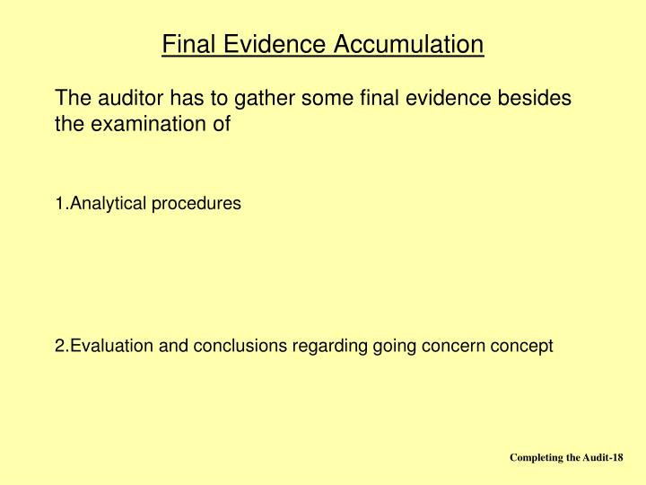 Final Evidence Accumulation
