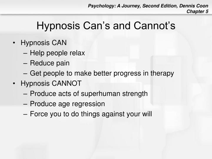 Hypnosis Can's and Cannot's