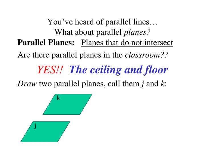 You've heard of parallel lines…