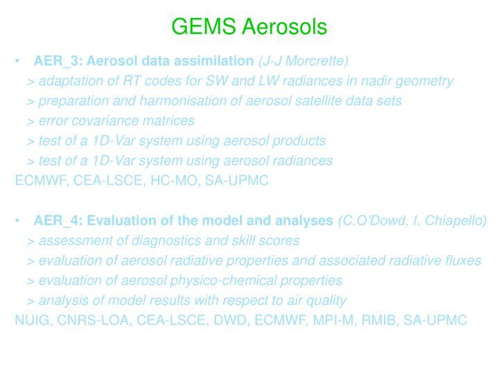 GEMS Aerosols