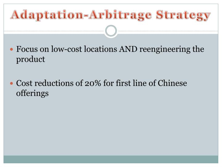 adaptation aggregation and arbitrage In this session, we will review the three broad aaa strategies for dealing with  cage differences: adaptation, to adjust to  aggregation, to overcome some of  the differences across countries and  5 arbitrage strategies15:15.