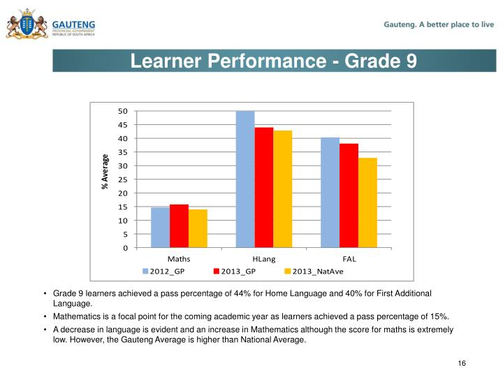 Learner Performance - Grade 9