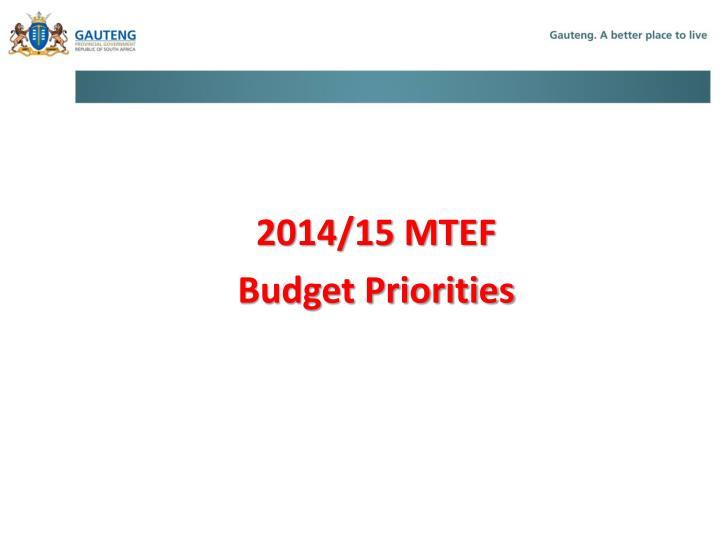 2014/15 MTEF