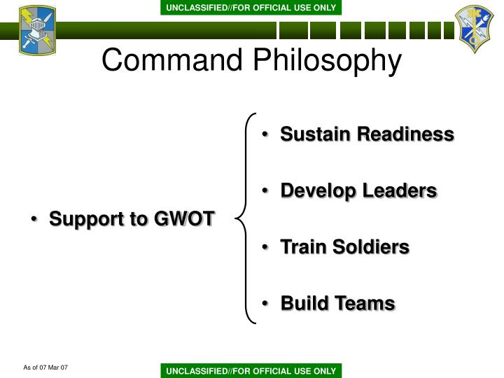 Support to GWOT