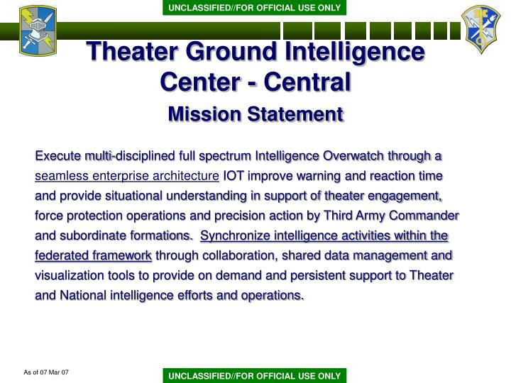 Theater Ground Intelligence