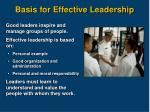basis for effective leadership1