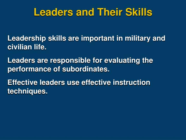 Leaders and Their Skills