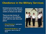 obedience in the military services