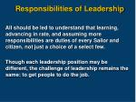 responsibilities of leadership