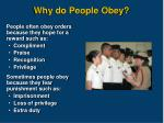 why do people obey