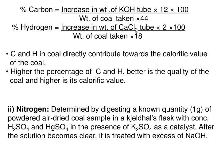 % Carbon =