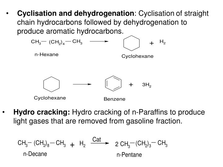 Cyclisation and dehydrogenation