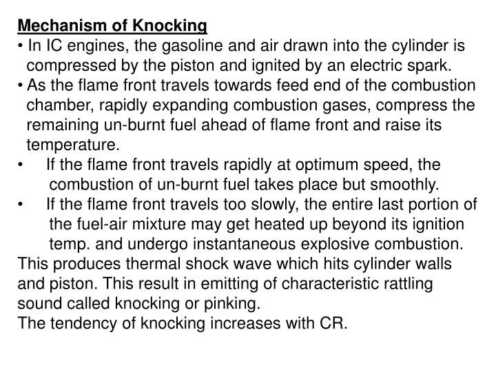 Mechanism of Knocking