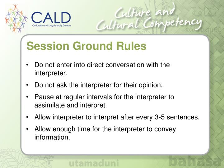 Session Ground Rules