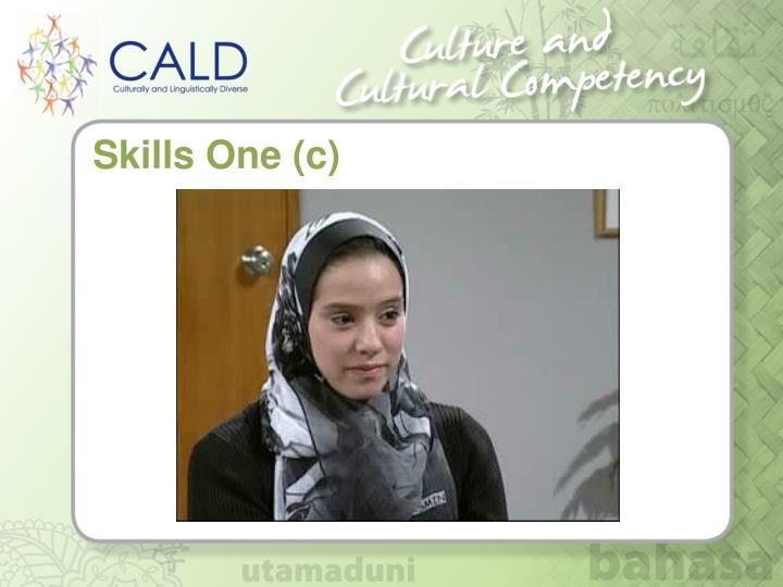 Skills One (c)