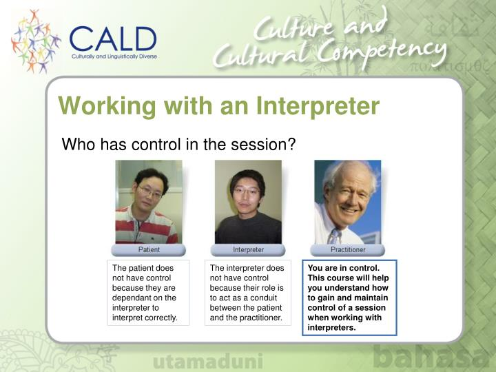 Working with an Interpreter