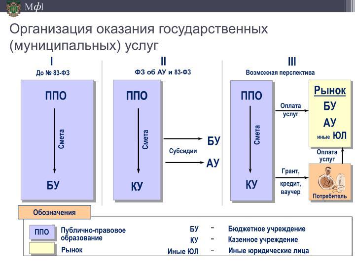 Организация оказания государственных (муниципальных) услуг