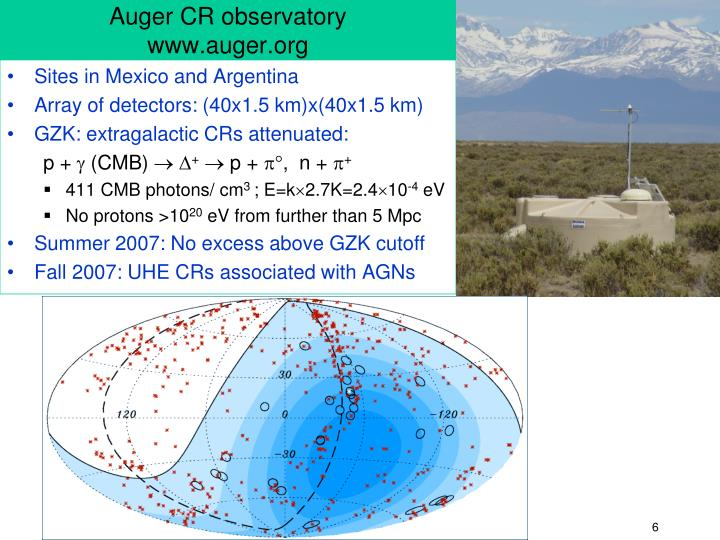Auger CR observatory