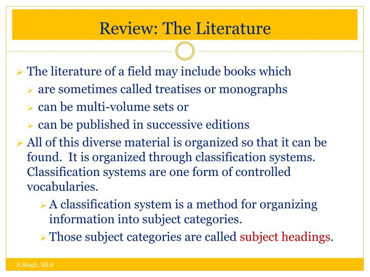 Review: The Literature