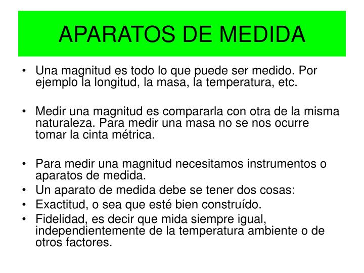 APARATOS DE MEDIDA