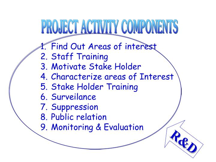 PROJECT ACTIVITY COMPONENTS