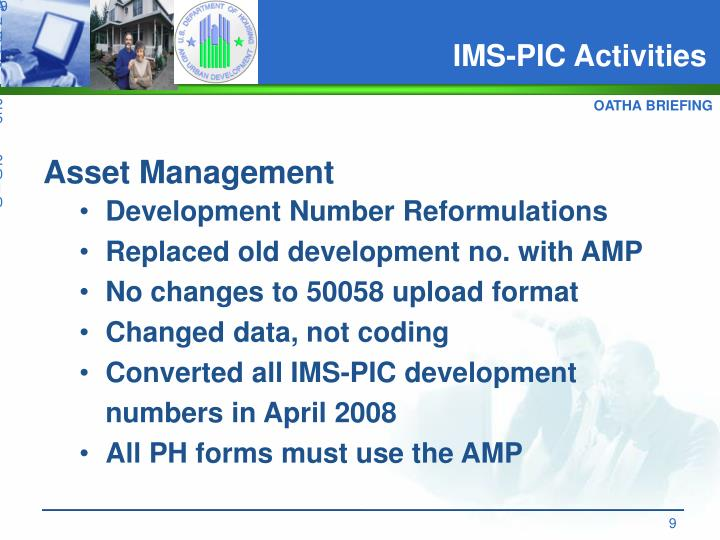 IMS-PIC Activities