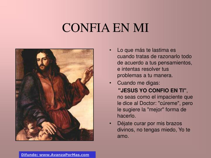 CONFIA EN MI