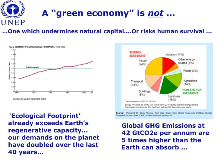 "A ""green economy"" is"