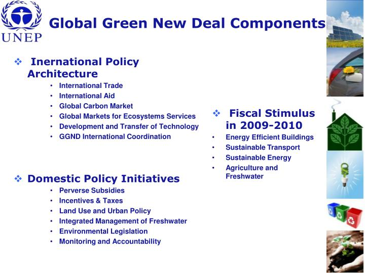 Global Green New Deal Components