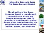 making the economic case the green economy report