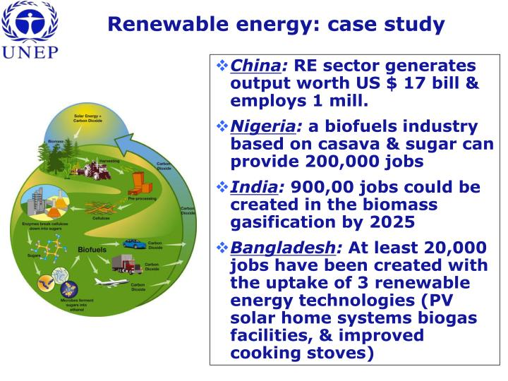 Renewable energy: case study
