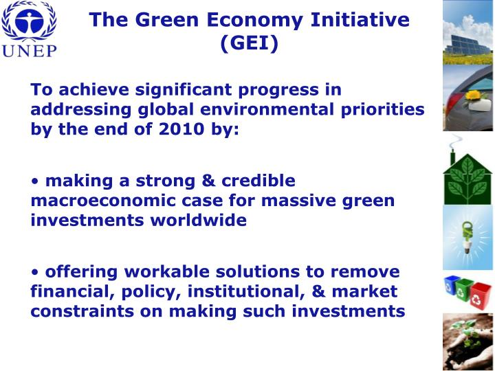The Green Economy Initiative (GEI)