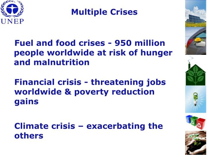 Fuel and food crises - 950 million people worldwide at risk of hunger and malnutrition
