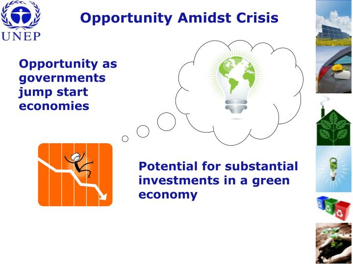 Potential for substantial investments in a green economy