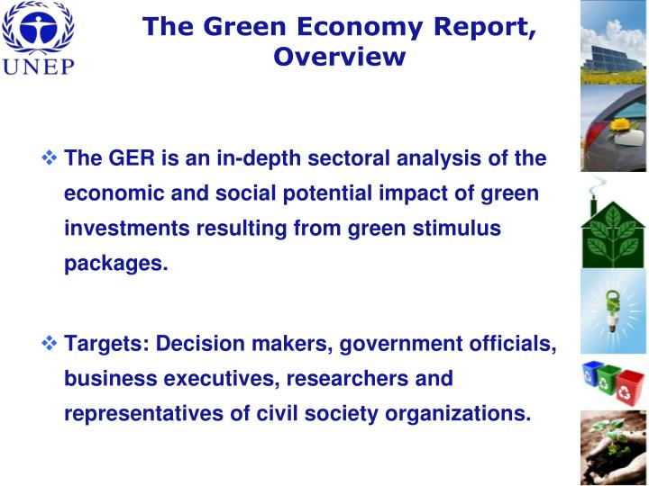The Green Economy Report, Overview