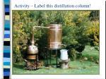 activity label this distillation column