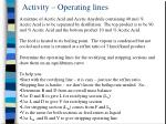 activity operating lines