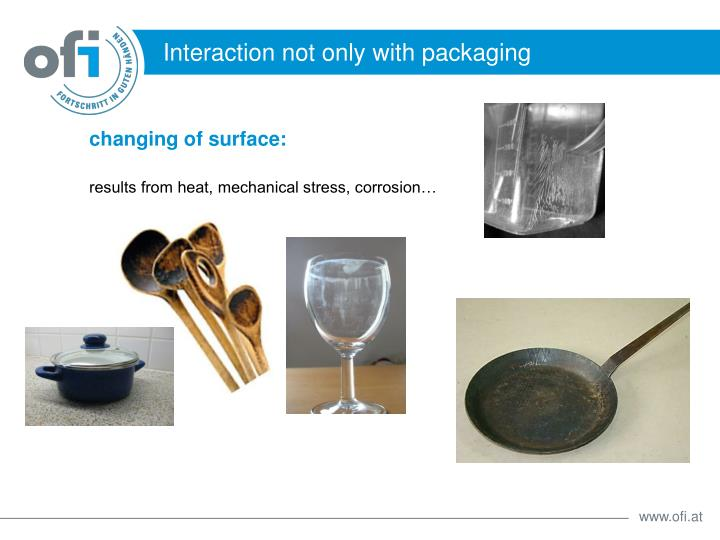 Interaction not only with packaging