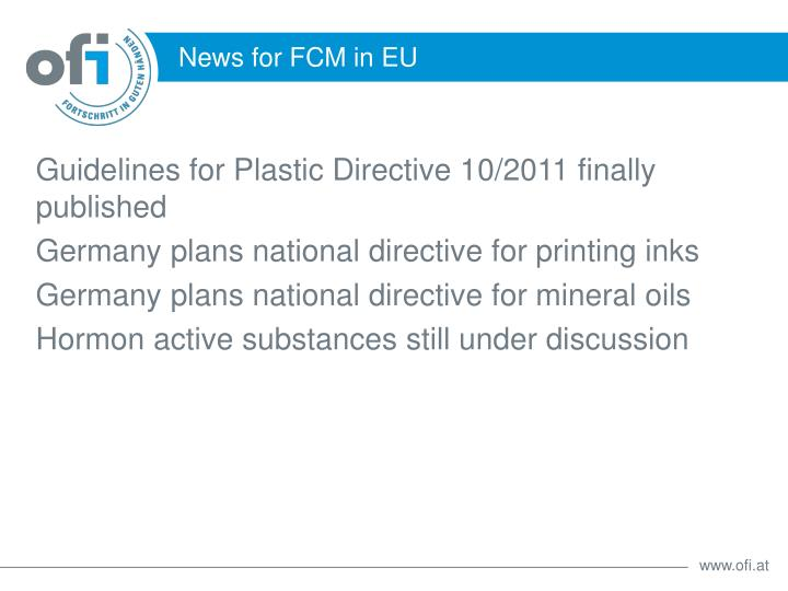 Guidelines for Plastic Directive