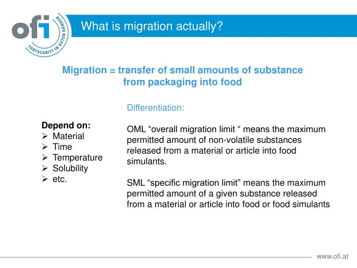 What is migration actually?