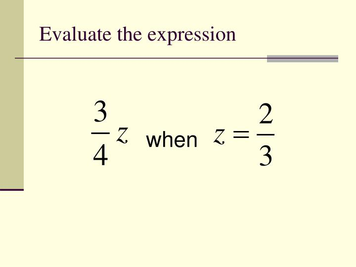 Evaluate the expression1
