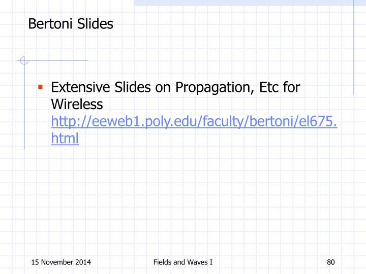Bertoni Slides