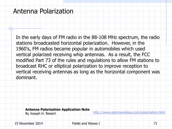 Antenna Polarization