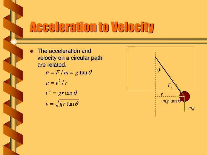 Acceleration to Velocity