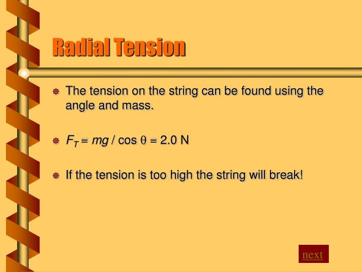 Radial Tension