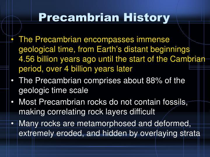 Precambrian History