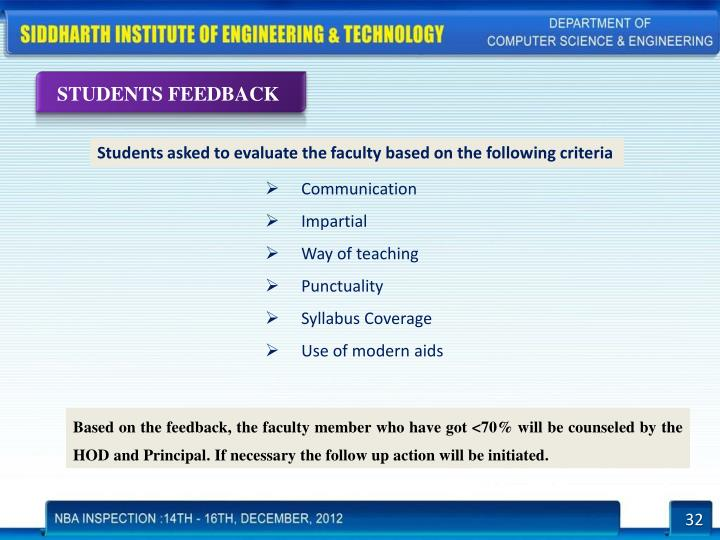 STUDENTS FEEDBACK