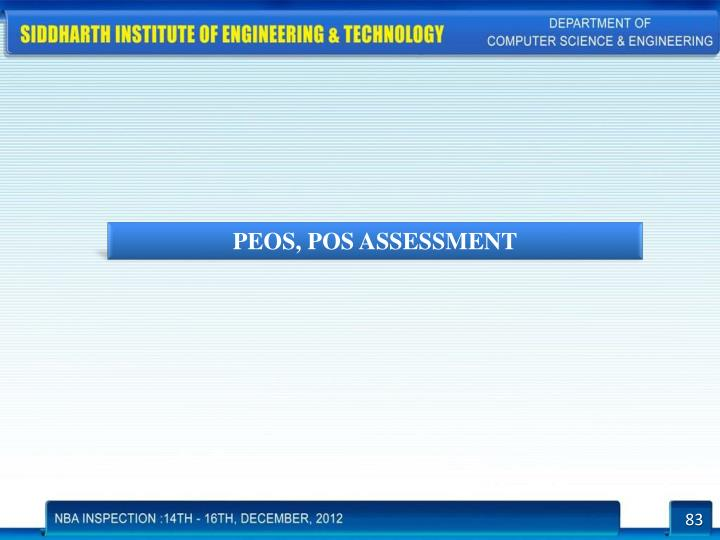 PEOS, POS ASSESSMENT