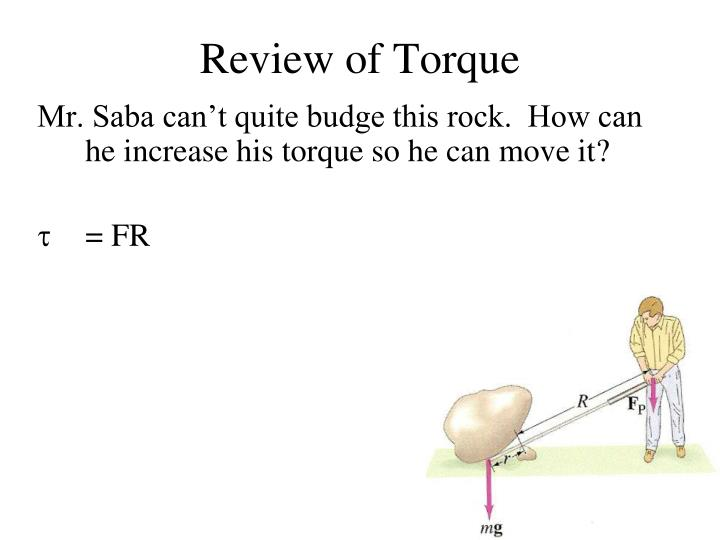 Review of Torque