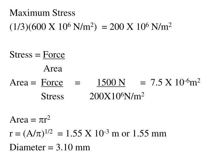 Maximum Stress